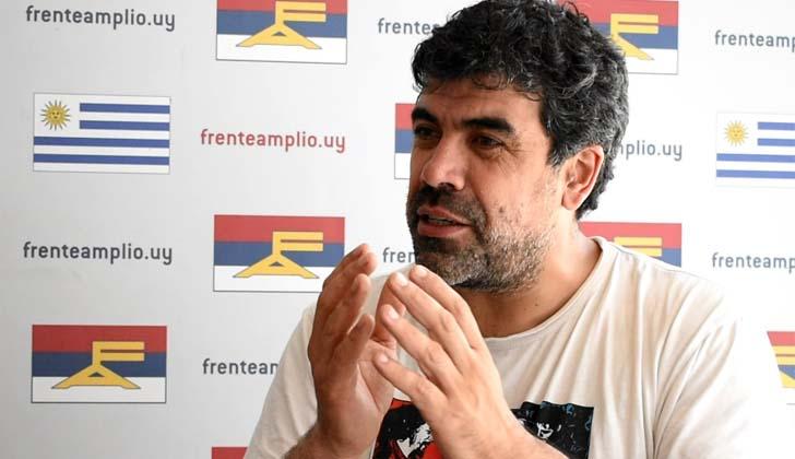 Precandidato presidencial, Óscar Andrade.