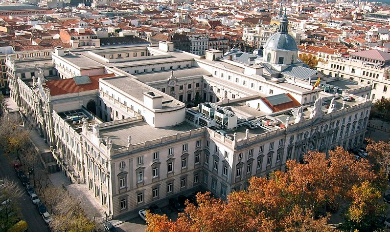Edificio del Tribunal Supremo de España en Madrid. Foto: Wikimedia Commons