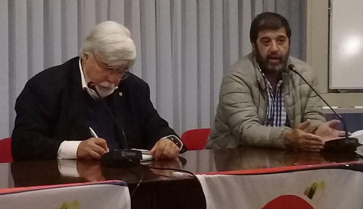 Ministro del Interior, Eduardo Bonomi, y  presidente del PIT-CNT, Fernando Pereira. Foto: LARED21.
