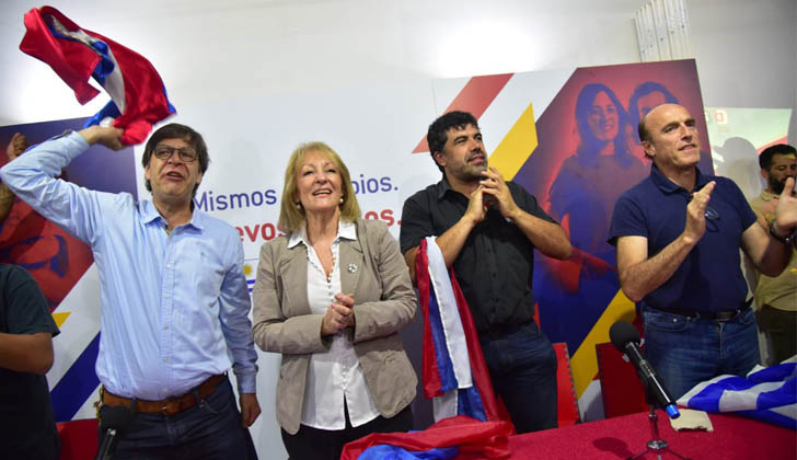 Miranda, Cosse, Andrade, Martínez. Plenario del FA.