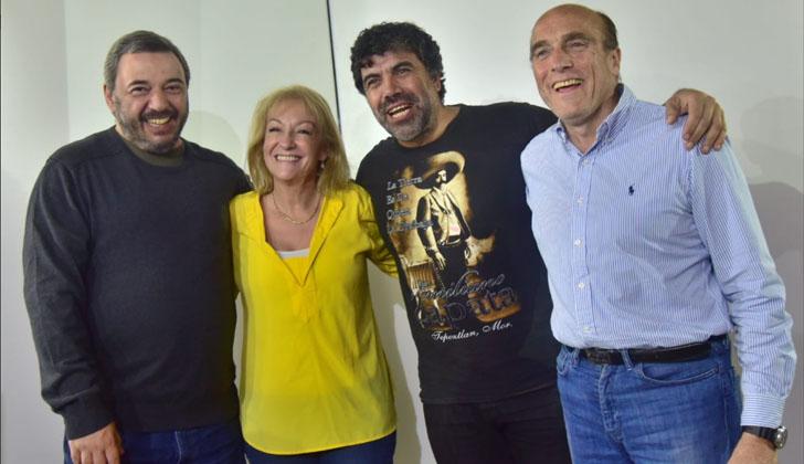 Bergara, Cosse, Andrade y Martínez. Foto: Frente Amplio.