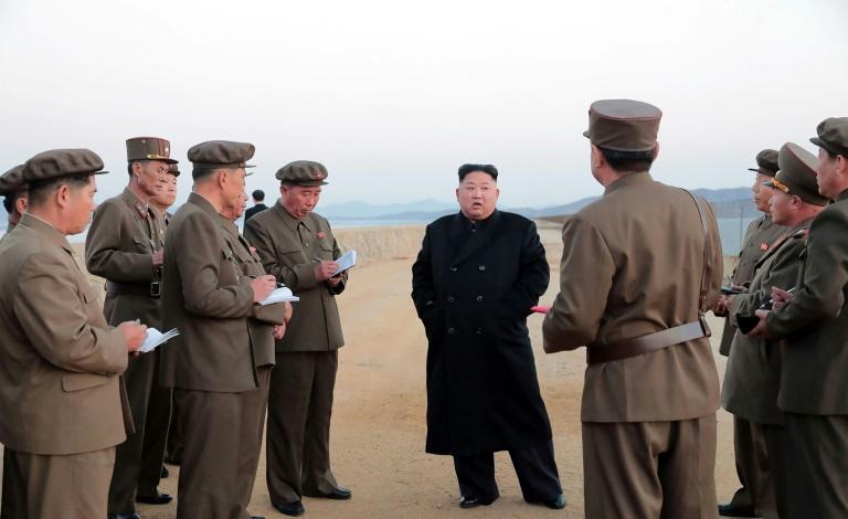 La única foto publicada por Corea del Norte sobre su prueba de armas.