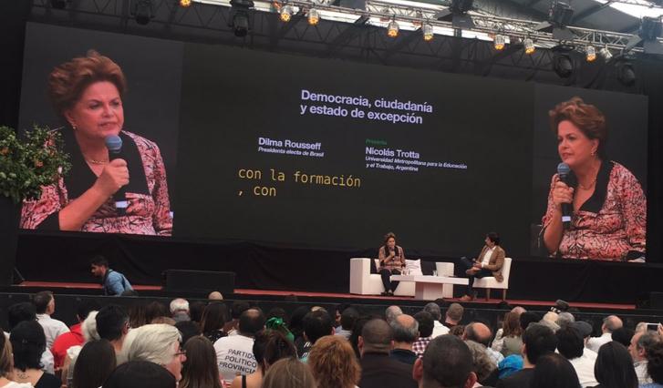 """Dilma Rousseff: """"Tenemos que hacer todas las alianzas necesarias para combatir al neoliberalismo""""."""