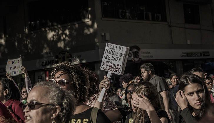 Marcha por el Día Internacional de Lucha contra la Violencia hacia las Mujeres 2017. Foto: LARED21.