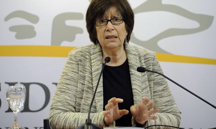 """Marina Arismendi: """"No  estoy de acuerdo con que se saque la asignación familiar"""". Foto: Presidencia"""