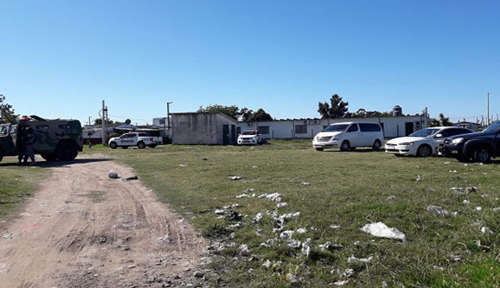 Operativo policial en Borro y Marconi. Foto: Ministerio del Interior.