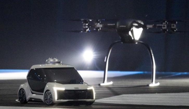 """Audi y Airbus presentaron en Ámsterdam un prototipo de su """"taxidrone"""""""