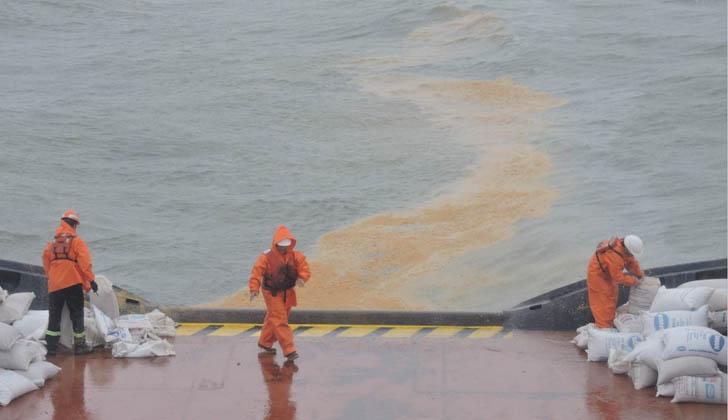 Ejercicio POLEX (Simulación de Derrame de Hidrocarburos. Foto: Armada Nacional.