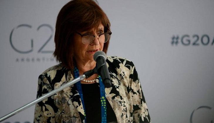 Ministra de Seguridad de Argentina, Patricia Bullrich.  Foto: Pablo Cuarterolo