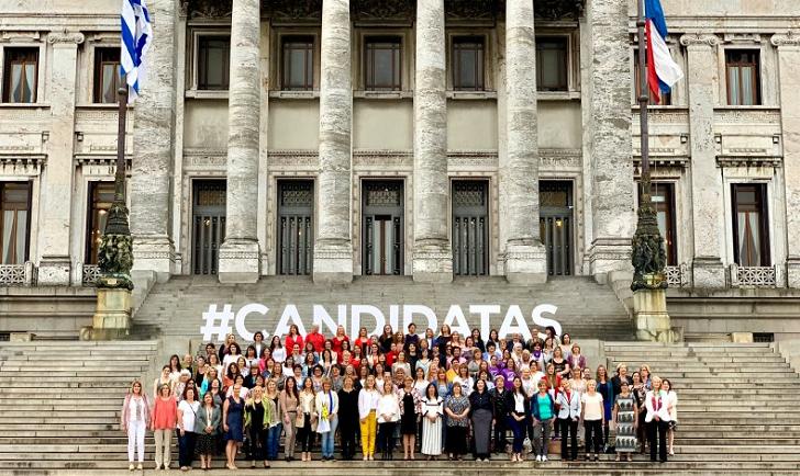#CANDIDATAS, la foto de campaña  de las mujeres políticas uruguayas. Foto: Cotidiano Mujer