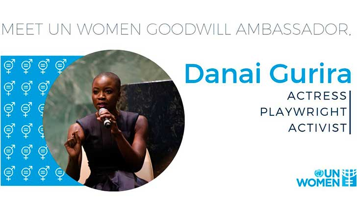 Danai Gurira es la nueva Embajadora de Buena Voluntad de ONU Mujeres .