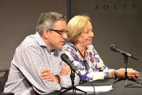 La ministra junto al rector de la UdelaR Rodrigo Arim