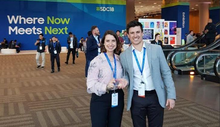 Emprendedores uruguayos premiados en Estados Unidos.