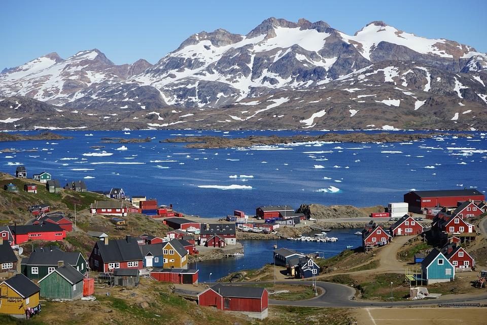 Pueblo de Tasiilaq, Groenlandia. Foto: Pixabay