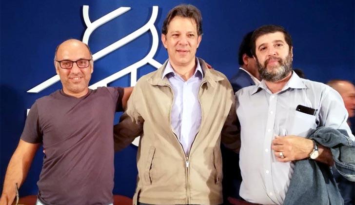 Haddad se reunió con Mujica y el PIT-CNT para crear red de protección a la democracia