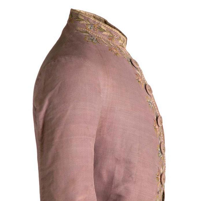 Camisa de alta costura del siglo XVII para hombre