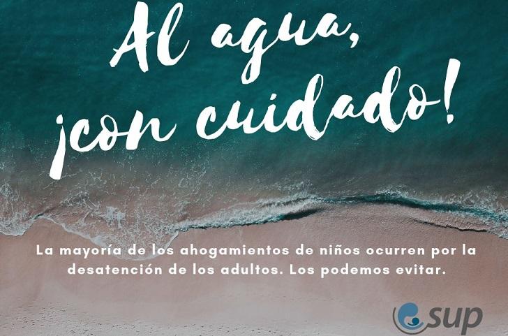 """""""Al agua, con cuidado"""": recomendaciones de la Sociedad Uruguaya de Pediatría para evitar ahogamientos."""