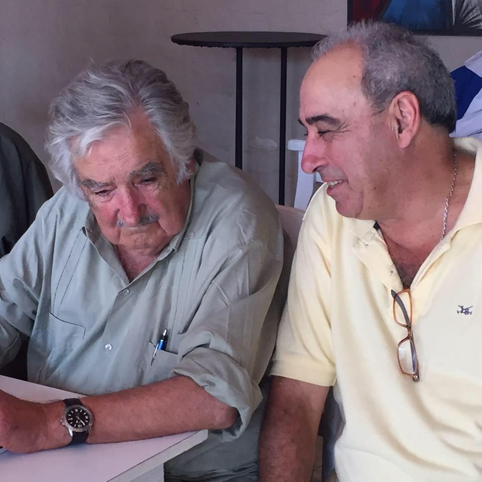 Alfredo Fratti junto a José Mujica