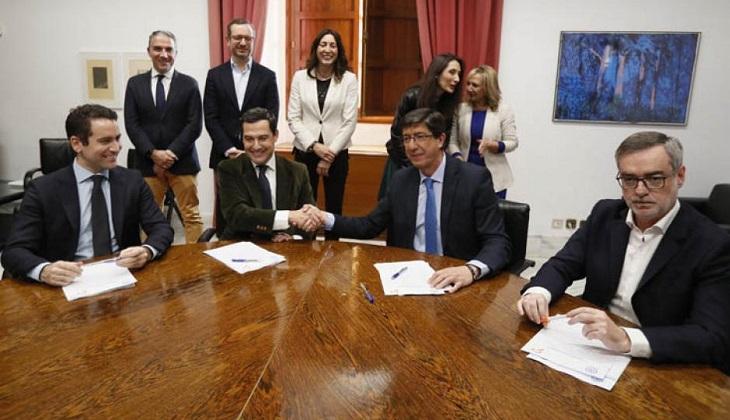 La derecha española gobernará Andalucía tras 36 años del PSOE.