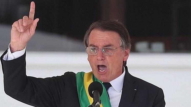 """Bolsonaro: """"Mi aproximación con EEUU es económica, pero puede ser bélica también""""."""