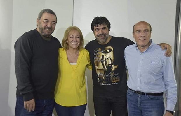 De izquierda a derecha: Mario Bergara, Carolina Cosse, Óscar Andrade y Daniel Martínez. Foto: FA