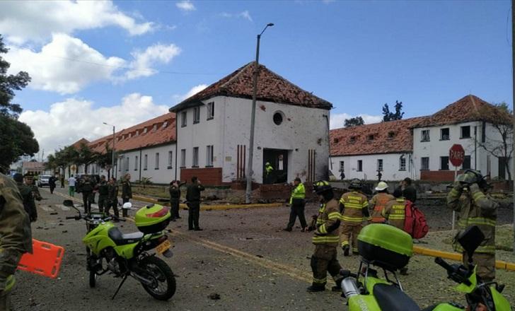 Explosión de coche bomba en una escuela de Policía de Colombia deja 8 muertos