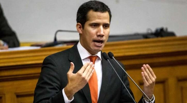 Juan Guaidó dando su discurso frente a la Asamblea Nacional de Venezuela
