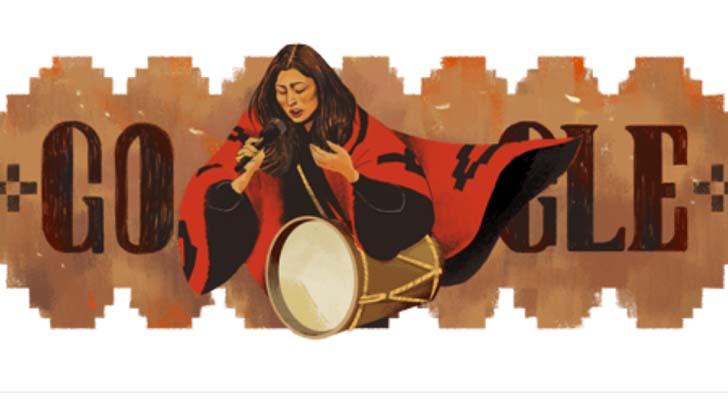 Google dedica un doodle a Mercedes Sosa.
