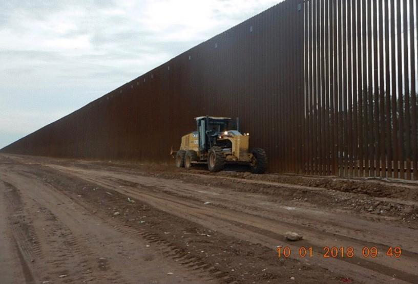 Parte la cerca fronteriza (no muro de concreto) que Trump asegura ya construyó su administración. Foto: Twitter Donald Trump