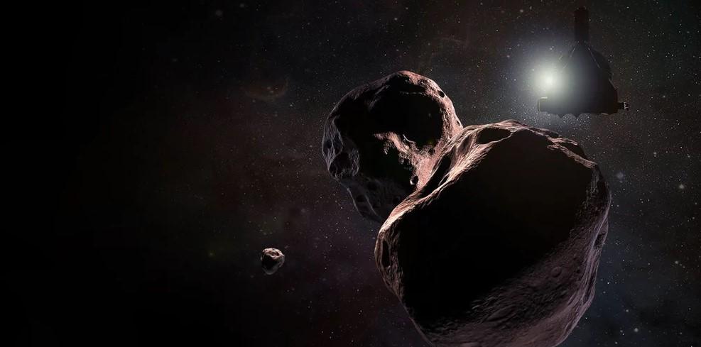 Una representación artística de Ultima Thule, cuyos detalles se verán mejor en los próximos meses. Foto: NASA / JHUAPL / SwRI / Steve Gribben