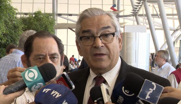 Ministro de Ganadería, Agricultura y Pesca, Enzo Benech, tras el embarque de carne vacuna a Japón.