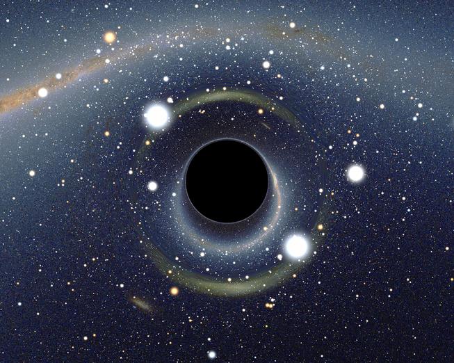 Representación artística de un agujero negro. Foto: Wikimedia Commons