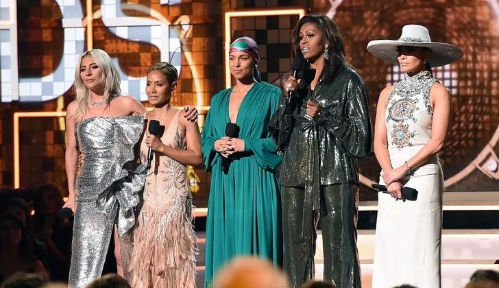 El discurso de Michelle Obama, Lady Gaga, Jennifer Lopez y Jada Pinkett Smith en los Grammy 2019