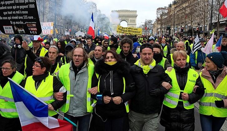 Francia: 13.ª semana de protestas de los chalecos amarillos .