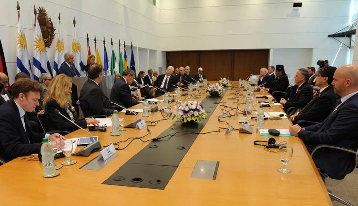 Este jueves 7 de febrero se reunió en Montevideo el Grupo Internacional de Contacto sobre Venezuela.  Foto: Presidencia de la República.