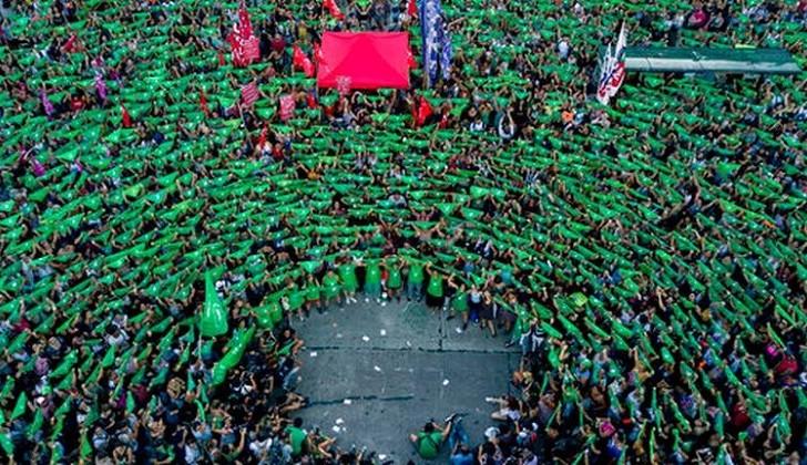 19F: Argentina se tiñó una vez más de verde por el Aborto Legal, Seguro y Gratuito.