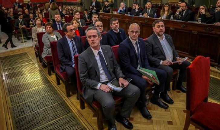 Inicia el juicio a los líderes independentistas catalanes en Madrid