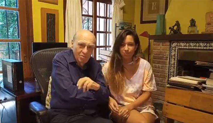 Julio María Sanguinetti junto a su nieta Lucía.