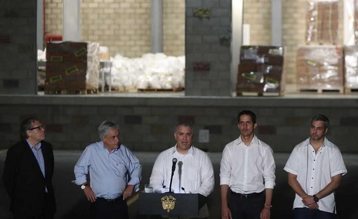 Almagro, Guaidó y los presidentes de Colombia, Chile y Paraguay juntos en Cúcuta