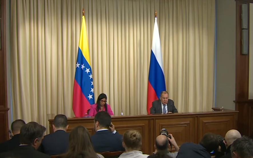 Delcy Rodríguez y Sergéi Lavrov