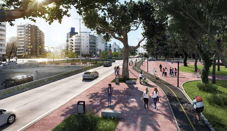Proyecto de obras en avenida Italia. Foto: Intendencia de Montevideo.