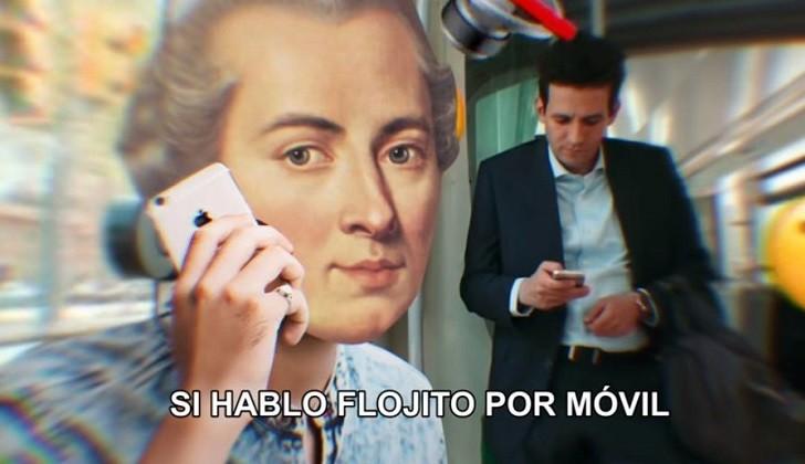 Immanuel Kant protagoniza original campaña de buena conducta el transporte público catalán