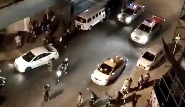 Operativo policial en marcha en defensa del agua.