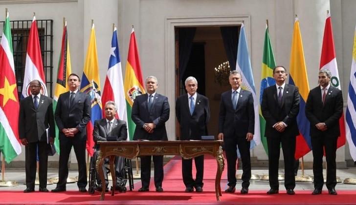 PROSUR, el nuevo bloque de la derecha regional que excluye a Venezuela.