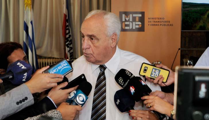 Ministro de Transporte y Obras Públicas, Víctor Rossi. Foto: Presidencia de la República.