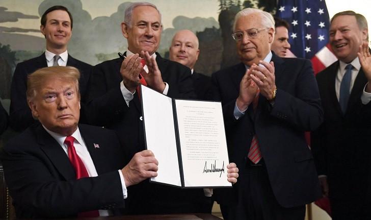 Trump reconoce la soberanía israelí en los Altos del Golán.