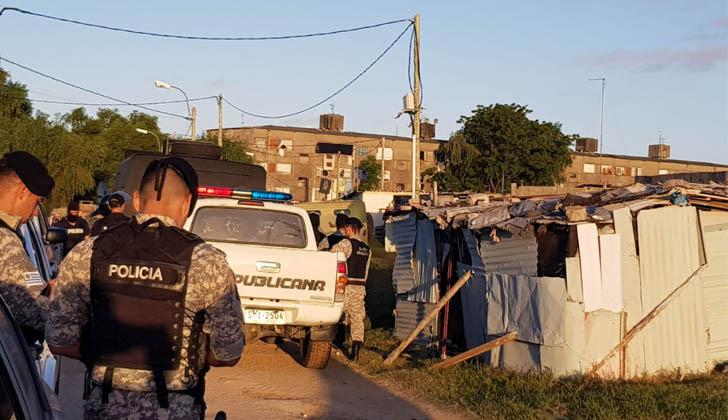Operativo Mirador en Malvín Norte. Foto: Ministerio del Interior.
