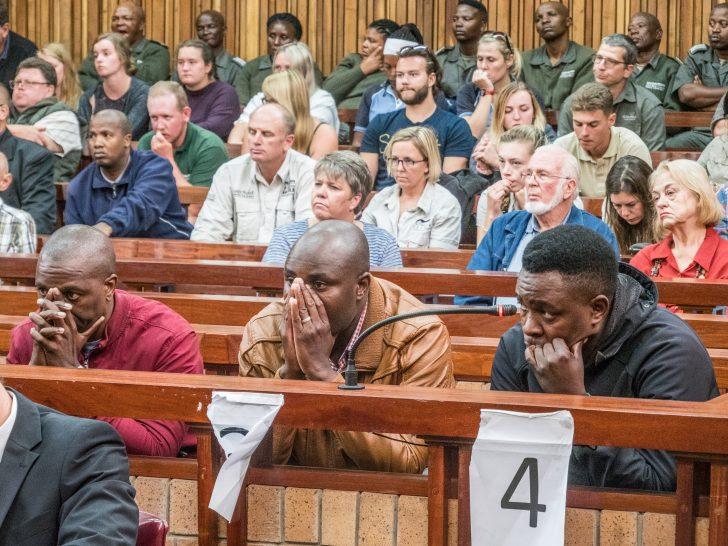 Los imputados escuchan su sentencia. Foto: Ben Wallace / Facebook