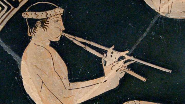Apolo toca la lira. Foto: Wikimedia Commons