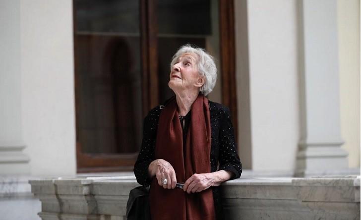 Javi Martinez. 22/4/2019.Madrid. Comunidad de Madrid. Ida Vitale, Premio Cervantes 2018, en la Biblioteca Nacional